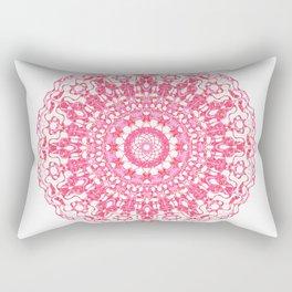 Mandala 12 / 2 eden spirit ruby red Rectangular Pillow