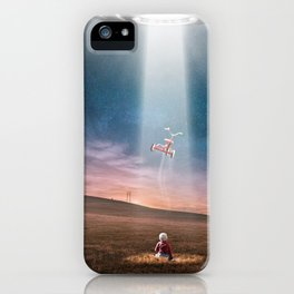 Child and UFO iPhone Case