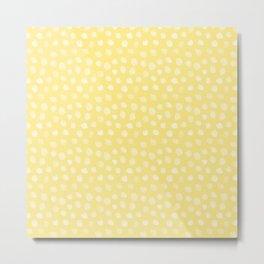 Yellow Dalmatian Print Metal Print