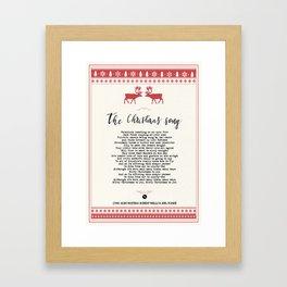 The Christmas song Framed Art Print
