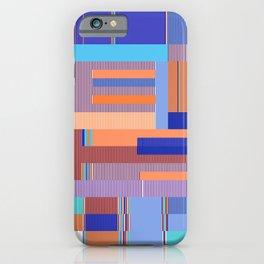 Scandinavian Moon (Blue Salmon Colours) iPhone Case