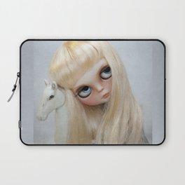 Erregiro Blythe Custom Doll, The White Horse Laptop Sleeve