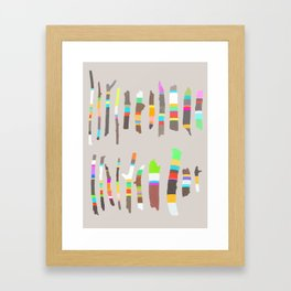Painted Twigs 2 Framed Art Print