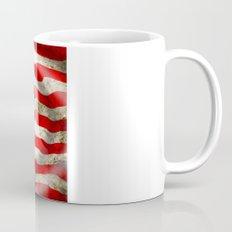 A wavy American flag Mug