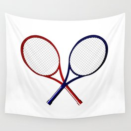 Crossed Rackets Wall Tapestry