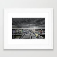 dublin Framed Art Prints featuring Dublin by Arther Postrh | Maure |
