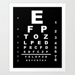 Inverted Eye Test Chart Art Print