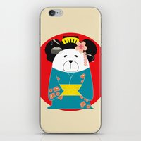 geisha iPhone & iPod Skins featuring Geisha by EinarOux