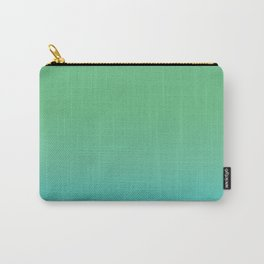 Green & Teal Ombre Carry-All Pouch