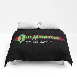 Castlevania - Die Monster. You Don't Belong In This World! Comforters