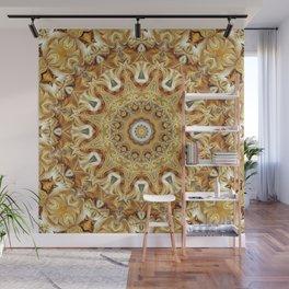 Flower Of Life Mandala (Golden Sunset) Wall Mural