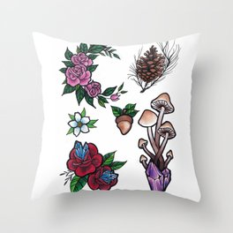 Forest Witch Flash Throw Pillow