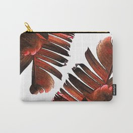Banana Leaf - Tropical Leaf Print - Botanical Art - Modern Abstract - Brown, Copper, Red Carry-All Pouch