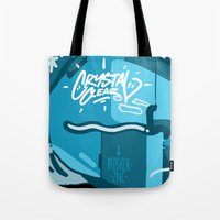 crystal Tote Bags featuring CRYSTAL by clogtwo