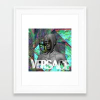 versace Framed Art Prints featuring Versace by Panama Prince