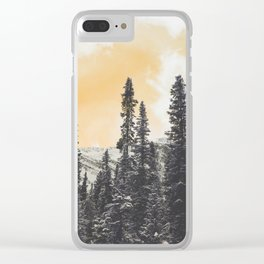 Orange Skys Above the Pines Clear iPhone Case