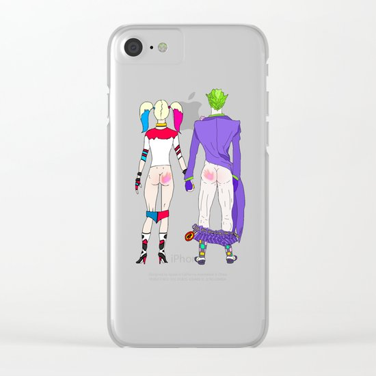 LOVE is no BUTT Joke Clear iPhone Case