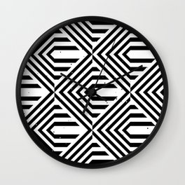 Pattern with striped lines (4) Wall Clock