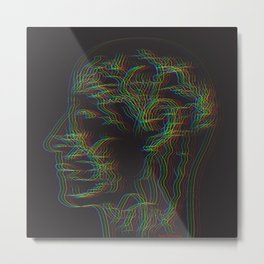 The drawing of human nervous system Metal Print