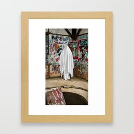 Graffiti Ghost Framed Art Print