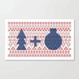 Geometric Christmas Pattern Canvas Print