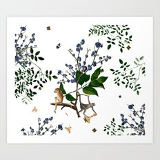 Monkey World: Apy and Vinnie - White Art Print
