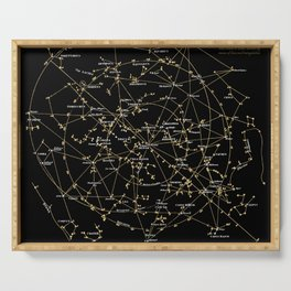 Stars Constellations Love Astronomy Cosmos Galaxy Universe Serving Tray