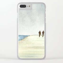 Walk at the Beach Clear iPhone Case
