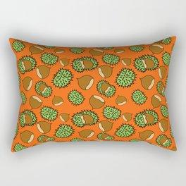 Chestnut and Chestnut Cupule Pattern Rectangular Pillow