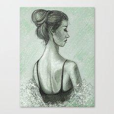 Spring Snow Devotchka Canvas Print