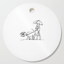 The Dog Walker Cutting Board
