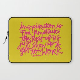 Inspiration is for amateurs x typography Laptop Sleeve