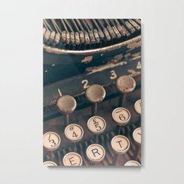 Vintage Typewriter - Macro Photography #Society6 Metal Print