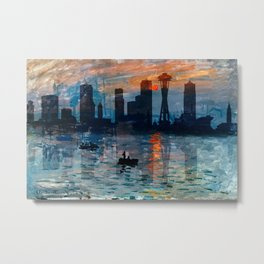 Seattle Skyline 8 Metal Print