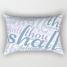 Psalm 91 Word Art Rectangular Pillow
