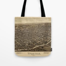 Map Of Titusville 1896 Tote Bag