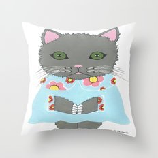 Chic Cat Throw Pillow