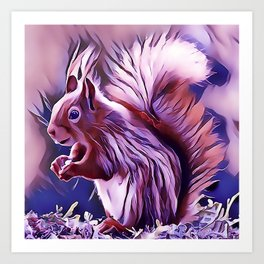The American Red Pine Squirrel Art Print