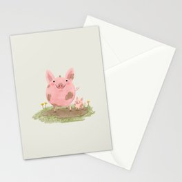 Piggies in a Mud Puddle Stationery Cards