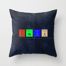 The Elements of Color Throw Pillow