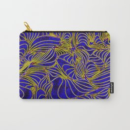 Curves in Yellow & Royal Blue Carry-All Pouch