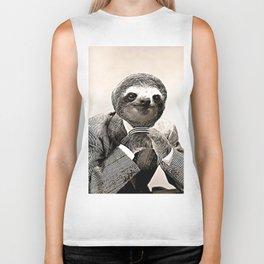 Gentleman Sloth in Smart Posture Biker Tank