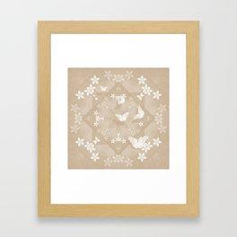 Dreamy butterflies and mandala in iced coffee Framed Art Print