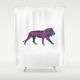 Colorful King Lion Shower Curtain