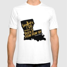Louisiana Rising - Everything I Do Gonna Be Funky  SMALL Mens Fitted Tee White