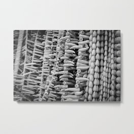 Shark teeth beads - fake Metal Print