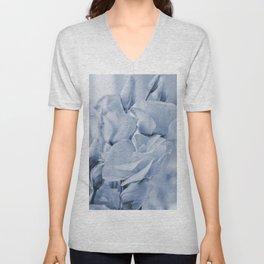 Soft blue lisianthus - Hampton Style Unisex V-Neck
