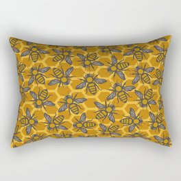 Bees Buzzing Rectangular Pillow