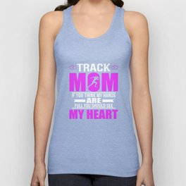 Track Moms Full Heart Mothers Day T-Shirt Unisex Tank Top