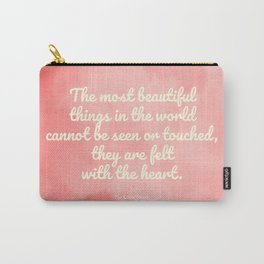The most beautiful things... The Little Prince quote Carry-All Pouch